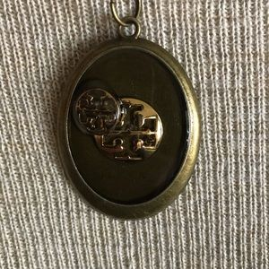 Authentic Tory Burch 2 Button Necklace
